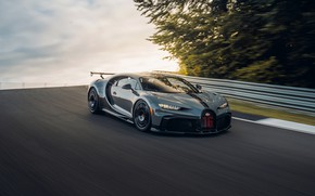 Picture vegetation, the fence, Bugatti, track, Chiron, 2020, Chiron Pur Sport