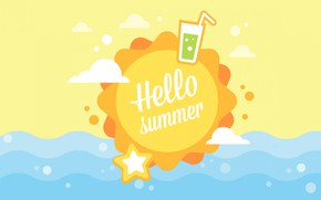 Picture sea, summer, the sun, stay, vector