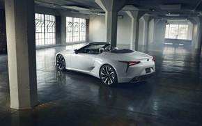 Picture white, Lexus, columns, convertible, 2019, LC Convertible Concept