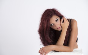 Picture model, pretty, redhead, look, Luigi Malanetto