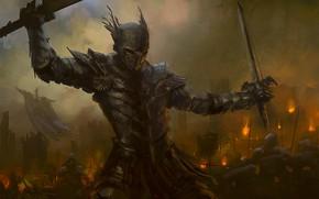 Picture sword, armor, fantasy, art, knight