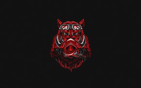 Picture Minimalism, Background, Face, Boar, Art, Design, Vector, Background, Illustration, Animal, Minimalism, Animal, Boar, Muzzle, by …