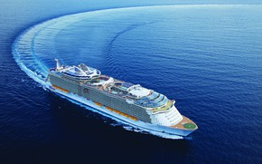 Picture The ocean, Sea, Liner, The ship, Oasis of the Seas, Passenger ship, Cruise Ship, Royal …
