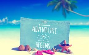 Picture sea, beach, summer, tropics, Palma, the inscription