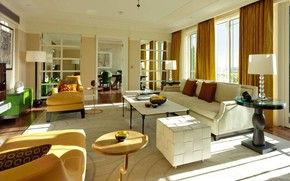 Picture interior, living room, London, dining room, Dorchester, Harlequin sitting room, Roof Suite