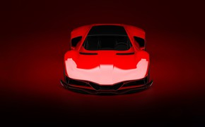 Picture Red, Auto, Machine, Style, Background, Red, Car, Art, Render, Design, Supercar, Supercar, The front, Sports …