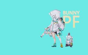 Picture Minimalism, Rabbit, Costume, Art, Illustration, Weapon, Peace, Cyborg, Mech, Comic Art, by Ren Wei Pan, …