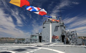 Picture frigate, feed, flags of colorization, Admiral Essen