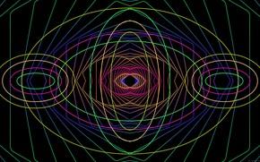 Picture line, colored, figure