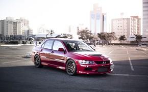 Picture Mitsubishi, parking, Lancer evolution IX