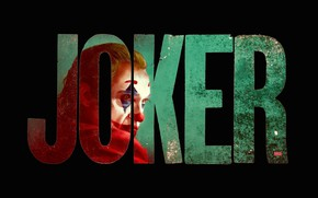 Picture letters, figure, paint, art, Joker, art, the word, Joker, Joaquin Phoenix, Joaquin Phoenix, 2019