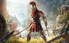 Wallpaper Assassin's Creed Odyssey, Odyssey, Assassin's Creed, Ubisoft, Odyssey, Ubisoft Quebec