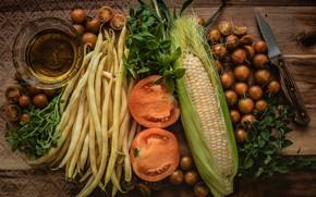 Wallpaper Vegetables, Still life, Beans