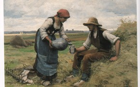 Picture DUPRE, farmer and wife, MIDDAY BREAK 64, jug and mug