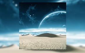 Wallpaper sand, space, stars, landscape, the universe, desert, planet, galaxy, space, universe, desert, stars, sand, planet, ...
