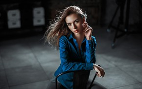Picture look, girl, pose, hair, Vika, Victoria Vishnevetskaya, Andrey Metelkov