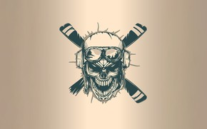 Picture Minimalism, Skull, Screw, Style, Background, Art, Art, Style, Sake, Background, Pilot, Minimalism, Pilot, Balanslava, by …