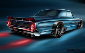 Picture Ford, Auto, Figure, Machine, Galaxie, Art, Vehicles, Ford Galaxie, Transport, Transport & Vehicles, Andreas Hoås ...