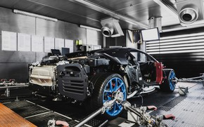 Picture Bugatti, Assembly, adjustment, Chiron