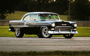 Picture Chevrolet, Black, Coupe, Chevy, Classic car