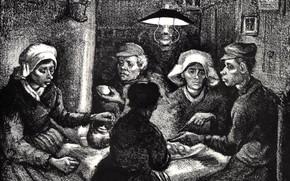 Picture Vincent van Gogh, The Potato Eaters, Lithos