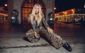 Picture look, pose, figure, costume, singer, background street, Rita Dakota