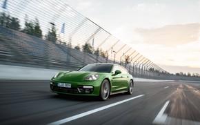 Picture speed, Porsche, Panamera, 2018, GTS, Sport Turismo