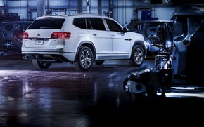 Picture white, Volkswagen, the room, 2018, Atlas, R-Line