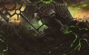 Picture Warhammer, Art, Necron, Fiction, Warhammer 40k, 40k, Illustration, Dawn of War, Characters, Lord, Science Fiction, …