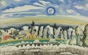 Picture 1917, Charles Ephraim Burchfield, Moon over Village