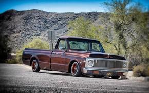 Picture Chevrolet, Lowrider, Pickup, Custom, Low, C10