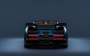 Picture rendering, McLaren, supercar, rear view, 2018, Senna, by Sebastian Ladan
