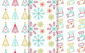 Picture snowflakes, texture, white background, christmas, tree, pattern