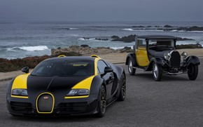 Picture Bugatti, Veyron, on the shore, 2014, Veyron Grand Sport Roadster Vitesse One Of One