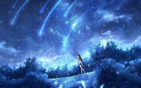 Picture water, space, night, fiction, schoolgirl, OR