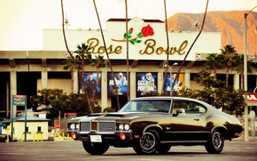 Picture Muscle, Car, Old, Oldsmobile, Cutlass