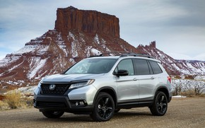 Picture Honda, 2019, Passport, mountain in the background
