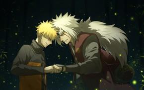 Picture Naruto, Jiraiya, Uzumaki Naruto, Bro Fist
