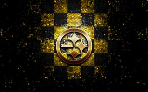 Picture glitter, checkered, NFL, Pittsburgh Steelers, sport, wallpaper, logo