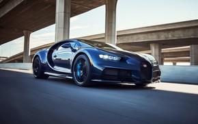 Picture bridge, speed, track, Bugatti, Sport, Pur, Chiron, Bugatti Chiron, 2021