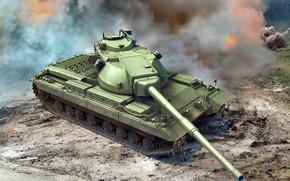 Picture Smoke, tank, British, heavy, UK, FV 214, Congueror