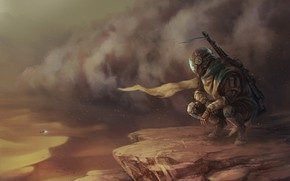Picture Figure, Desert, Storm, Soldiers, Art, Fiction, Illustration, Concept Art, Characters, by Jens Kuczwara, Jens Kuczwara, ...