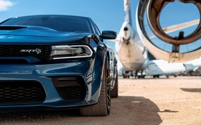Picture The plane, Headlight, The hood, Dodge, Charger, Hellcat, SRT, 2020, Dodge Charger SRT, Hellcat widebody