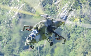 Picture helicopter, Russian, shock, Mil Mi-35 Hind