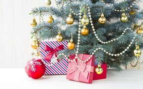 Picture decoration, holiday, toys, new year, gifts, tree, box