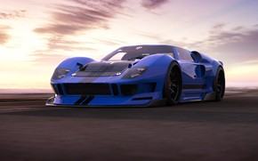 Picture Ford, Auto, Machine, Ford GT, Art, Supercar, Rendering, Concept Art, Ford GT40, Transport & Vehicles, …