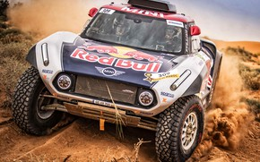 Picture Auto, Mini, Sport, Machine, Car, Rally, Rally, The front, Buggy, Buggy, X-Raid Team, 309, MINI …