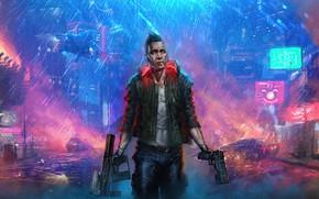 Picture art, rpg, video game, night city, CD Projekt RED, Cyberpunk 2077, Cyberpunk