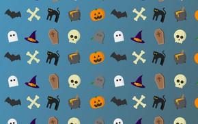 Picture cat, skull, hat, bones, Halloween, boiler, Jack, letcha mouse