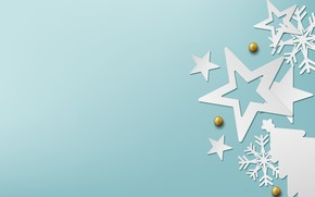 Picture winter, snowflakes, background, blue, Christmas, blue, winter, background, stars, snowflakes